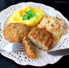 Polish Recipes, Polish Food, Meatloaf, Salmon Burgers, Allrecipes, Cornbread, Main Dishes, Food And Drink, Beef