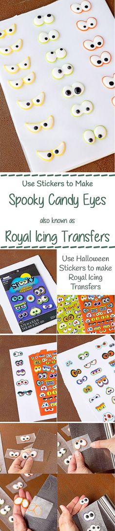 How to Make Spooky Eye Candy using Halloween Stickers with a How to Video | The Bearfoot Baker