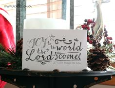 Joy to the World – Vignette and Printable