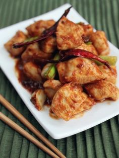 General Tso Chicken. This looks like a great recipe to try.
