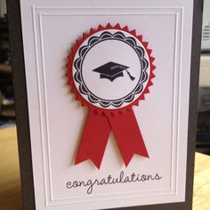 Graduation card-all stamps and card stock by PTI