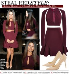 7c5110ac7e7 Steal Her style-Selena Gomez at iHeartRadio Music Awards 2014. Ropa De ...
