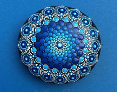 Stone Mandala Deep Blue Ocean Drop