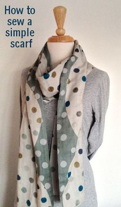 How to sew a scarf, a simple tutorial | Duckcloth...find fabric suppliers and get inspired.