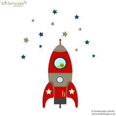 This blast off rocket wall sticker is ready for takeoff and loads of fun adventures Ideal for a nursery bedroom or playroom the blast off rocket wall…