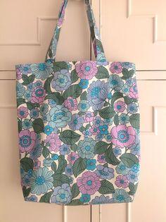 Vintage Fabric Handmade Shopper Bag 1970's Retro Floral Cotton in Clothes, Shoes & Accessories, Women's Handbags | eBay