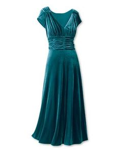 Vintage Hollywood Teal Gown. Depending on how you were built you might need a little tweak here or there to make this modest, but then again you might not.