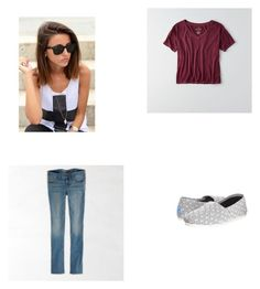 """Untitled #105"" by abby-nelson1015 on Polyvore featuring American Eagle Outfitters and TOMS"