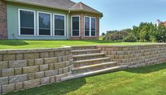 Featuring the Regal Stone Pro - RockFace unit! Keystone Retaining Wall, Retaining Wall Blocks, Retaining Walls, Landscape Walls, Landscape Design, Home Improvement Projects, The Great Outdoors, Landscaping, Sloped Backyard