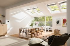 Realise the potential in your extension. What is the VELUX potential? It's when that extra space transforms into an extra special slace that you spending time in. And VELUX INTEGRA® roof windows are remote-controlled, ideal for those out-of-reach spots, bringing in more fresh air and better indoor comfort at your fingertips. Explore the VELUX potential in your home at www.velux.co.uk
