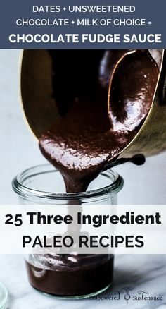 25 amazing three ingredient paleo recipes - great list to pin for later! #paleo #glutenfree #realfood