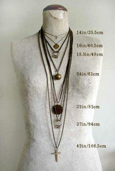 Necklace length defined!
