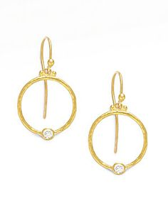 GURHAN 24K Gold & Diamond Hoop Earrings - Gold
