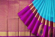 Handwoven Kanjivaram Korvai Silk Sari with Big Border 1031582 - Saris / All Saris - Parisera