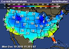 Florida is not participating in Winter  12/19/2016 Weather Map