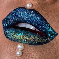 Aqua. Goth. #makeup #makeupartist #makeupgoals - credits to the artist