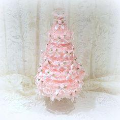 Pink Christmas Tree Pink Christmas Pink Tree Shabby Chic