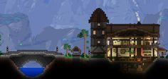 Cozy house and bridge, by Khaios