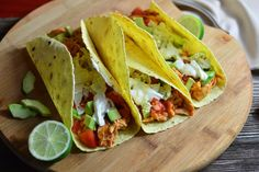 These slow cooker chicken tacos are packed with protein and nutrients, and are sure to be a hit with your whole family!