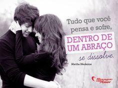 Tudo que você pensa e sofre, dentro de um abraço se dissolve. #amor #carinho #felicidade