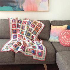 crochet motifs | poppyandbliss Crochet Blanket Tutorial, Crochet Blanket Patterns, Baby Blanket Crochet, Crochet Blankets, V Stitch Crochet, Crochet Motif, Crochet Granny, Slip Stitch, Double Crochet