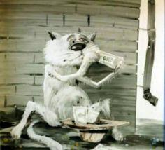 Кошачья жизнь в картинках Анатолия Ярышкина | Лолкот.Ру