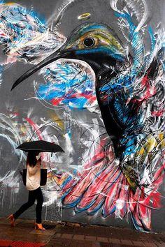 L7m Sao Paulo - Bird Street Art by L7m <3 <3