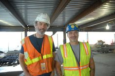 Marcus & Greg on Tower 4 at the World Trade Center, New York