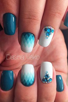 Fun Summer Nail Designs to Try This Summer ★ See more: http://glaminati.stfi.re/summer-nail-designs-try-july/ #nailart