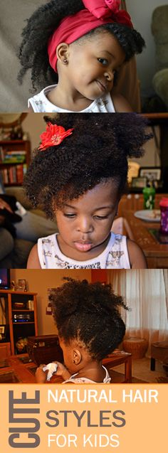 Cute Natural Hair styles for my little