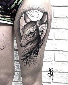 Doe tattoo by Sharm Tattoo