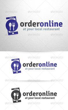 Order Online Food Logo Template