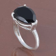 SOLID 925 STERLING SILVER DESIGNER BLACK ONYX RING 6.16g DJR6167 #Handmade #Ring