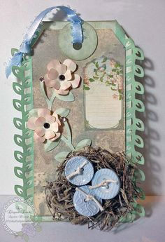 An Elegant Touch...: Thursday Totally TAGS ' n' ATCs! – 'Buttons'