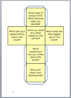 Reading dice - A set of 6 dice showing various reading related questions. Perfect for guided reading sessions.