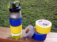 I've been carrying short lengths of duct tape on my backpacking drinking bottles for a long time now, it comes in very handy in a pinch and my water bottle is typically always within easy reach unlike carrying one of those a little rolls of duct tape in with my first aid kit or goodies bag somewhere deep inside my pack.