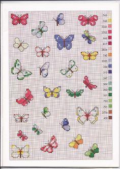 Tante farfalle colorate schemi
