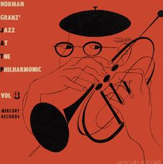 A Jazz at The Philharmonic DSM cover. Amazing. Brilliantly simple illustration, strong colours. Note the hands again.