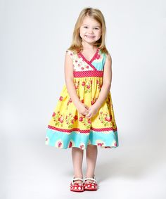 Look at this Yellow Floral Darling Abbey Dress - Infant, Toddler & Girls on #zulily today!