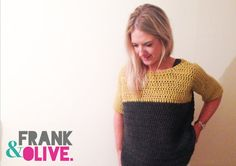 Frank&Olive Two-Tone Contrast Jumper by FrankandOliveCrochet
