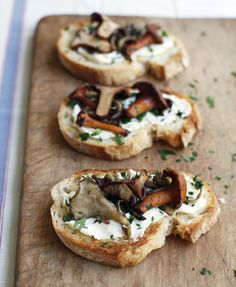 Wild Mushroom and Fromage Fort Crostini
