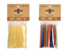 Love the beeswax birthday candles. Very festive & green!