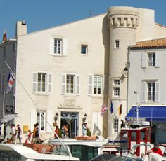 stately Hotel de Toiras in the old port village on the island of Ile de Re, off the western coast of France