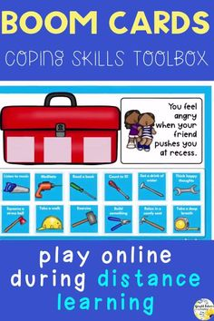 Help students learn coping strategies to use to help them calm down with this paperless digital activity! Can be played using Boom Cards or Google Slides. #brightfuturescounseling #elementaryschoolcounseling #elementaryschoolcounselor #schoolcounseling #schoolcounselor #copingskills #copingstrategies #selfcontrol #selfregulation Social Skills Activities, Counseling Activities, Preschool Learning Activities, Elementary School Counselor, School Counseling, Elementary Schools, School Social Work, Online Tutoring, Social Emotional Learning