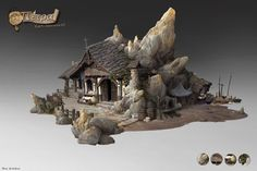 ArtStation - Crystal stone house, lok du