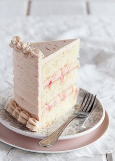 Layers of slightly spiced ginger cake smothered with a rhubarb buttercream frosting. Inside, silky cream cheese filling is rippled with poached rhubarb. The perfect cake to make when those coveted red stalks of rhubarb begin to arrive at the market! Frosting Recipes, Cupcake Recipes, Cupcake Cakes, Dessert Recipes, Buttercream Frosting, Shoe Cakes, Just Desserts, Delicious Desserts, Rhubarb Cake