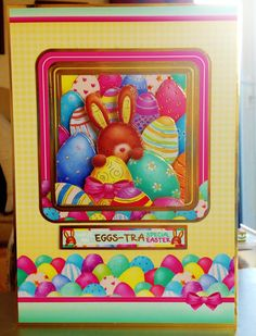 """(6) Easter Card - A5 from Hunkydory """"Special Days"""" Collection - Decopage"""