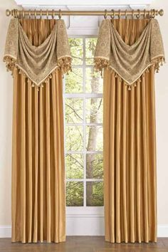 Inspirational orange Swag Curtains