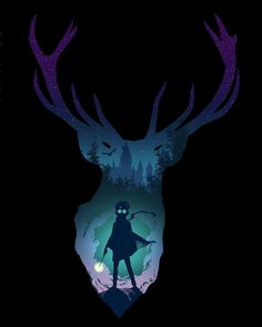 Harry Potter and Prongs artist unknown