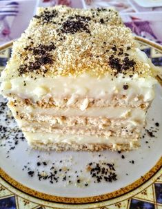 Greek Sweets, Greek Desserts, Summer Desserts, Easy Desserts, Sweets Cake, Cupcake Cakes, Sweets Recipes, Cake Recipes, Greek Pastries